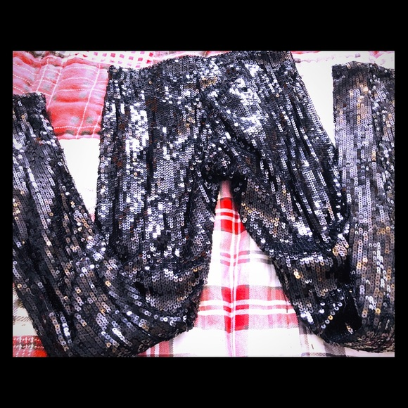 Anthropologie Pants - Issue Sequin Black Pants Skinny NWT